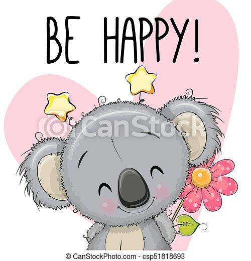 Be happy greeting card with koala be happy greeting card koala with be happy greeting card with koala csp51818693 m4hsunfo