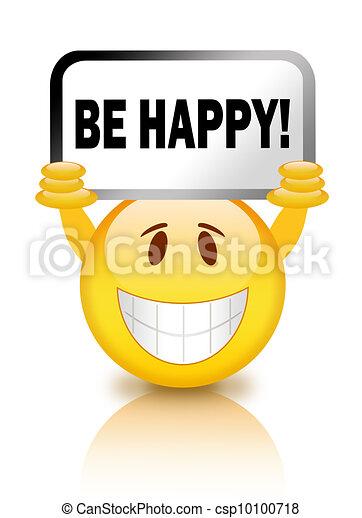 Be happy smiley - csp10100718