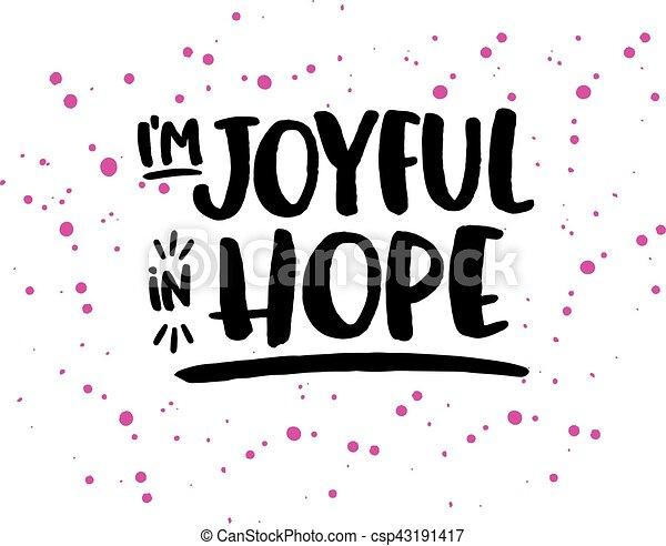 Be Joyful in Hope - csp43191417