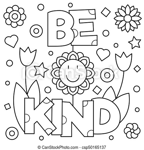I Can Be Kind Coloring Page Www.robertdee.org