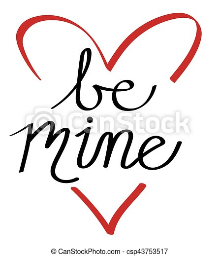 Be Mine Heart - csp43753517