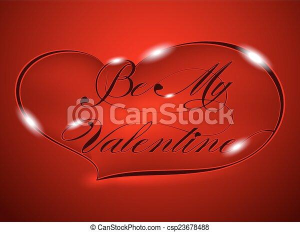Be My Valentine - csp23678488