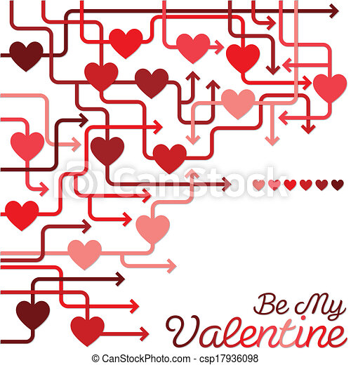 Be my valentine heart maze in vector format.