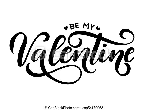 be my valentine lettering card hand drawn inspirational clip art rh canstockphoto co uk inspirational clip art pictures inspirational clip art pictures