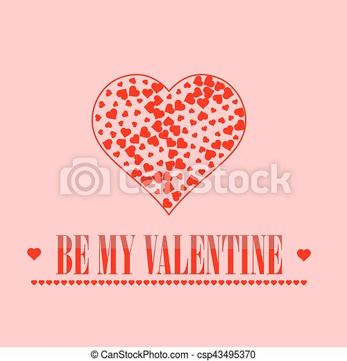 Be my valentine romantic banner on pink background. vectors ...