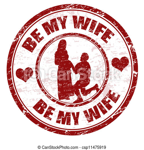 Be my wife stamp - csp11475919