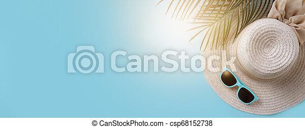 Beach accessories banner - csp68152738