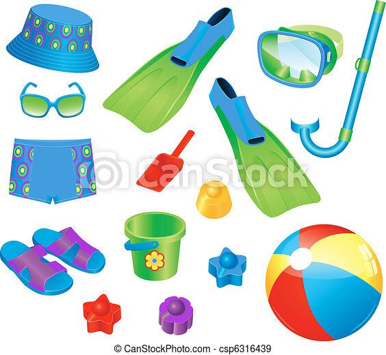 Beach accessories for boy - csp6316439