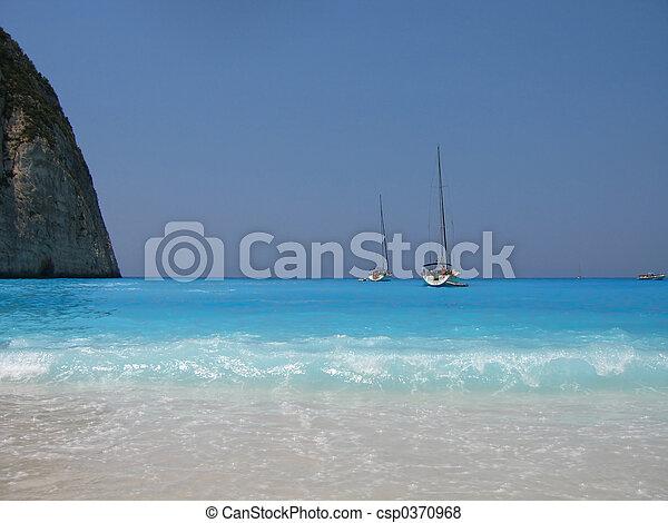 beach and sail boats - csp0370968