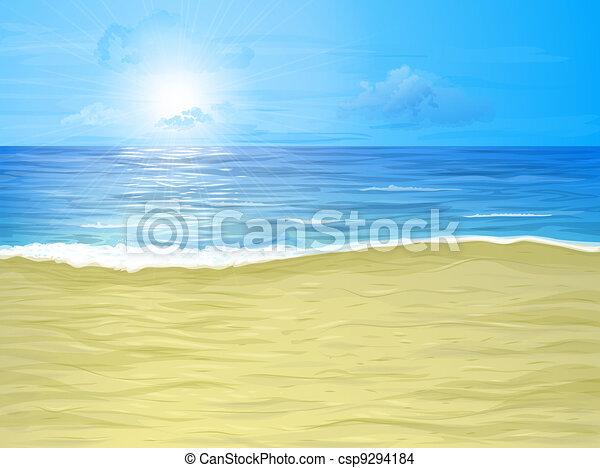 Beach and sea - csp9294184