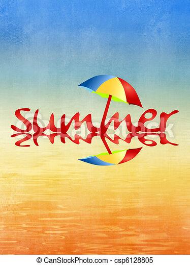 Beach and summer background - csp6128805