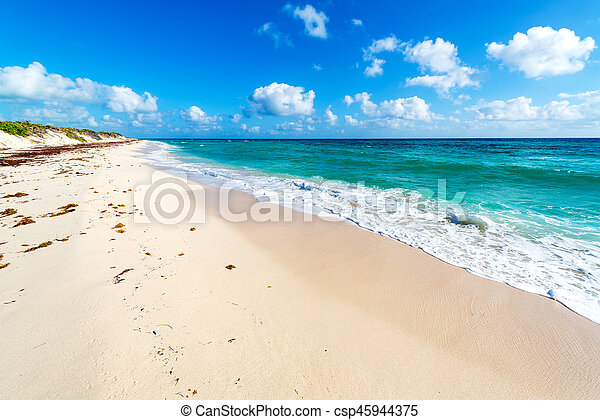 Beach and Turquoise Water - csp45944375