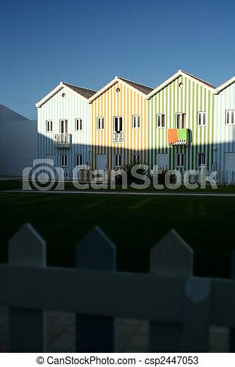 Beach architecture houses - csp2447053