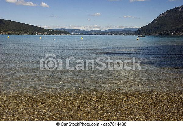 Beach at Annecy lake - csp7814438
