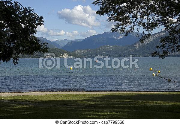 Beach at Annecy lake - csp7799566