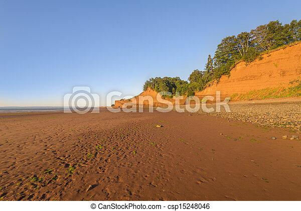 Beach at low tide - csp15248046