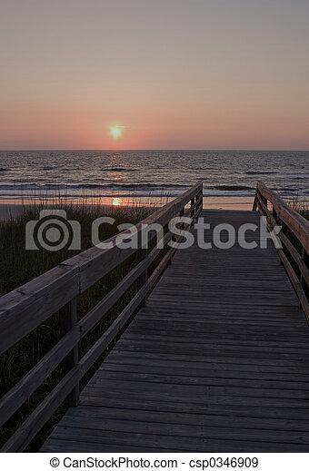 Beach at sunrise II - csp0346909