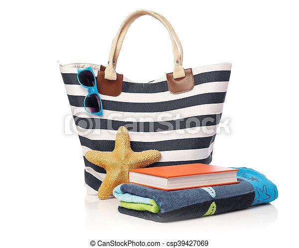 Beach bag and leisure items - csp39427069