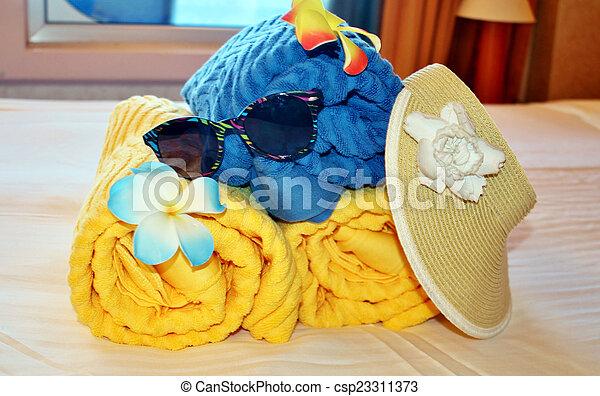 Beach bag and towels - csp23311373