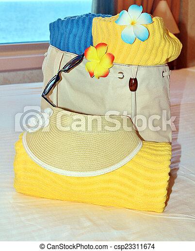 Beach bag and towels - csp23311674