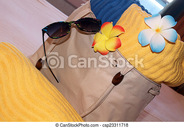 Beach bag and towels - csp23311718