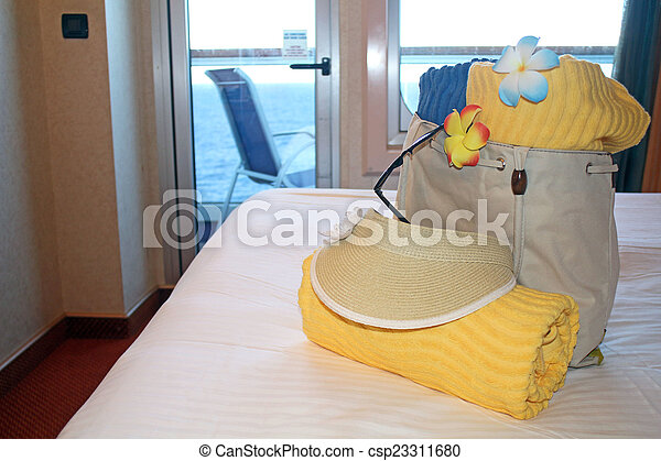 Beach bag and towels - csp23311680