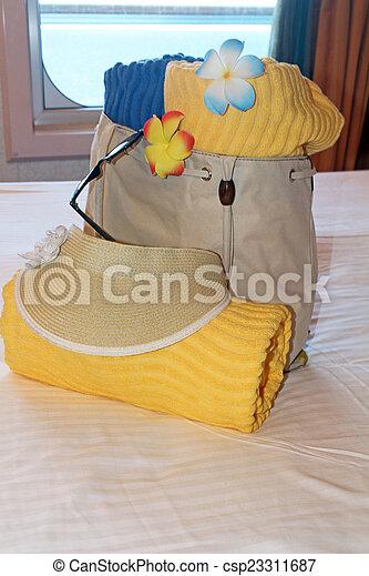 Beach bag and towels - csp23311687