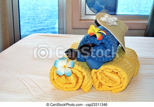 Beach bag and towels - csp23311346