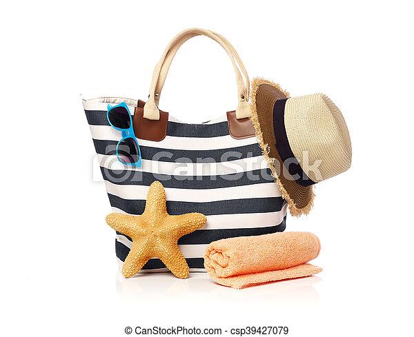 Beach bag concept - csp39427079