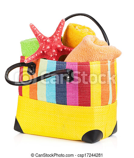 Beach bag with towels - csp17244281