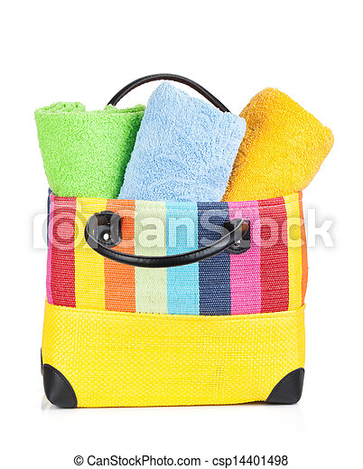 Beach bag with towels - csp14401498
