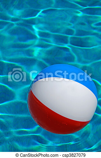 Beach Ball In Pool Throughout Beach Ball In Pool Csp3827079 Ball Pool Floating The Swimming