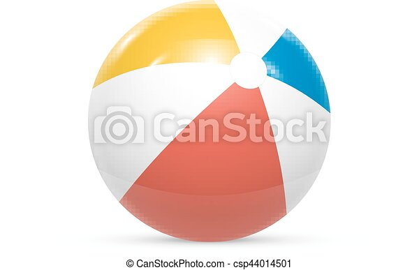 Beach ball Isolated on white background Vector - csp44014501