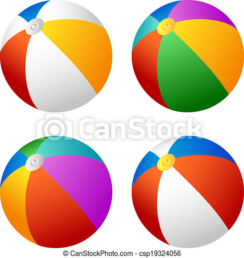 beach ball set set of beach balls for your design clipart vector rh canstockphoto com balls clipart images balls clipart black and white