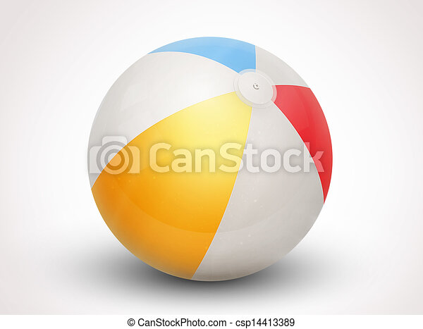 beach ball vector illustration - csp14413389