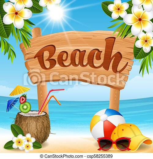 Beach banner - csp58255389
