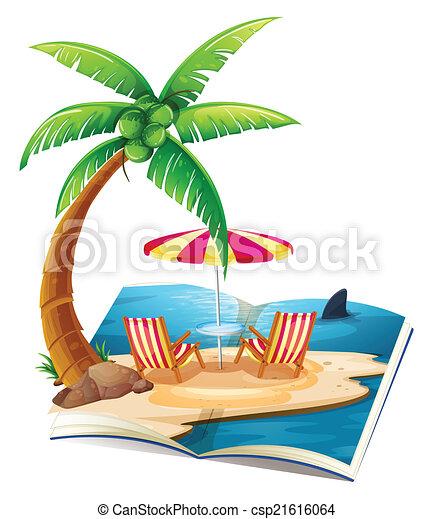 Beach Reading Clipart