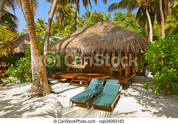 Beach bungalow - Maldives - csp34093183