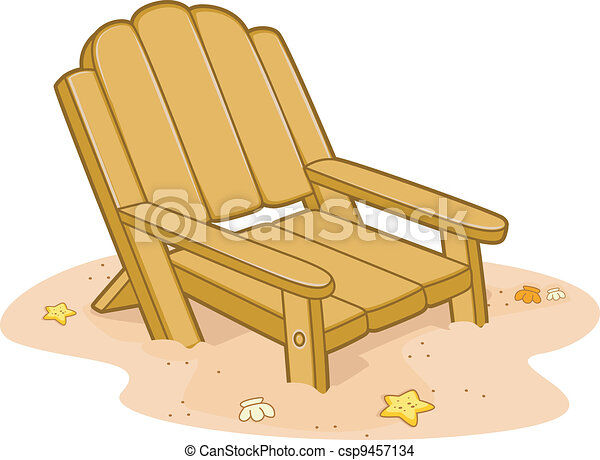 Beach Chair Illustration Of A Chair By The Beach