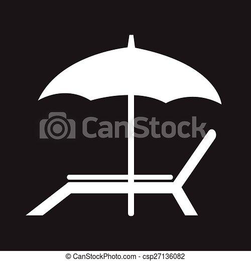 beach chair icon - csp27136082