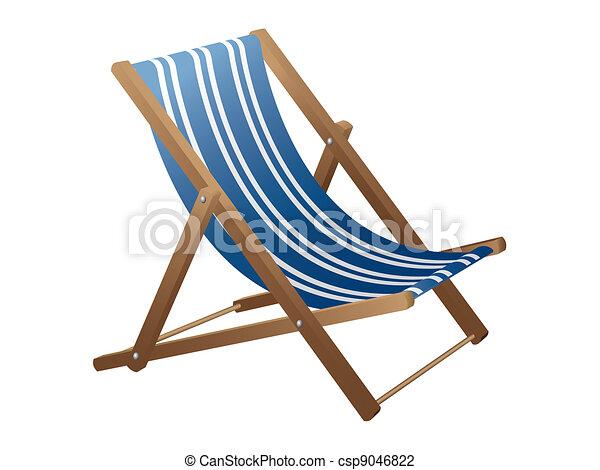 beach chair vector illustration search clipart drawings and eps rh canstockphoto com Beach Umbrella Clip Art beach chair clip art free