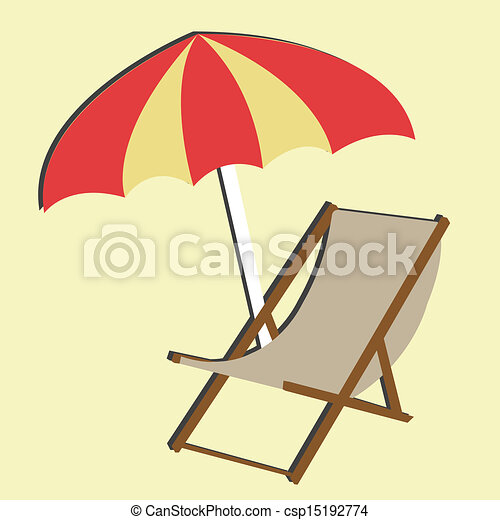 beach chair on light yellow background