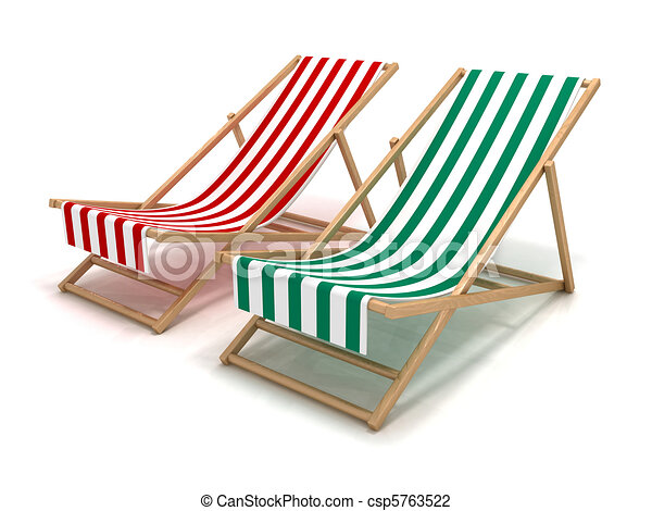 Beach Chairs Stock Illustration