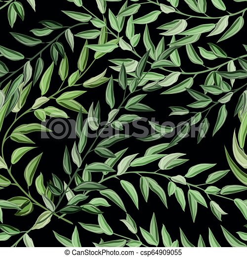 Beach Cheerful Seamless Pattern Wallpaper Of Tropical Dark Green Leaves Of Palm Trees And Flowers Bird Of Paradise Strelitzia Canstock #green #dark #tropical #forest #park #vacation #beautiful #amazing. https www canstockphoto com beach cheerful seamless pattern 64909055 html