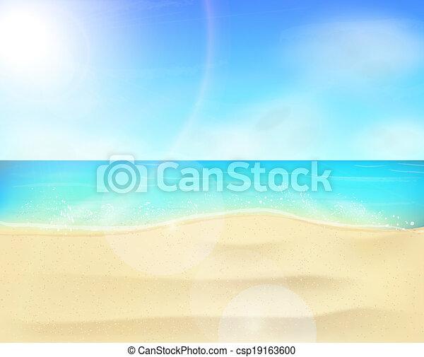 Beach coastline landscape - csp19163600