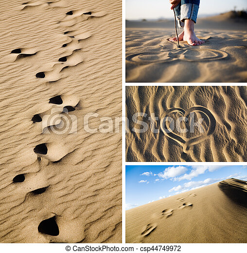 Beach collage - csp44749972