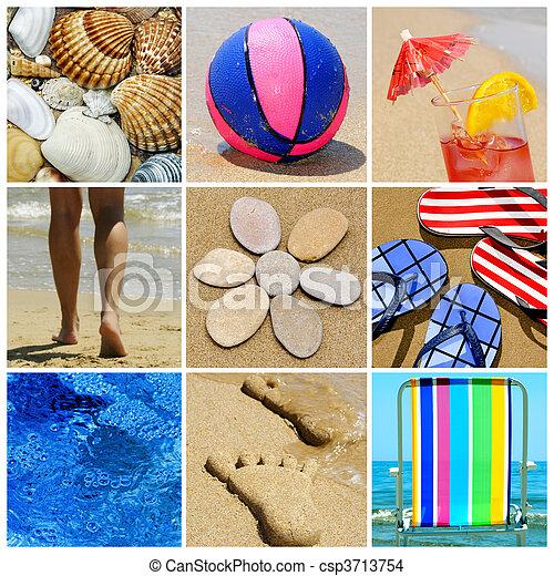 beach collage - csp3713754