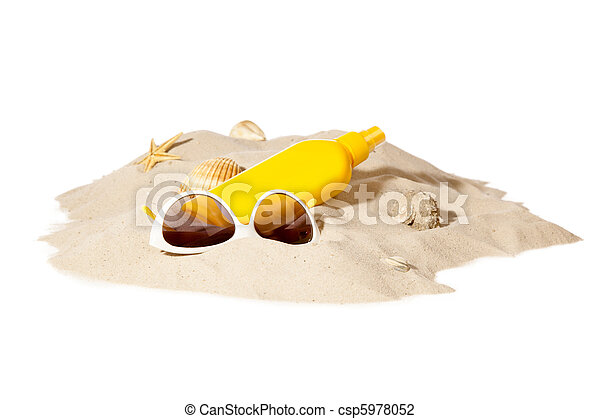 beach concept with pile of sand - csp5978052