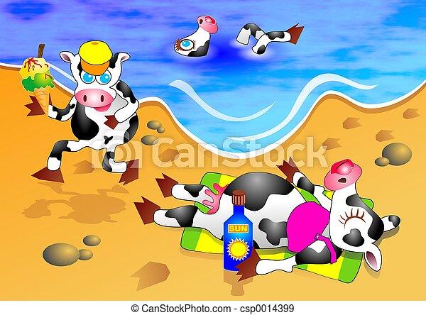 Beach Cows - csp0014399