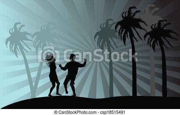 beach-, fête, vecteur, vacances - csp18515491